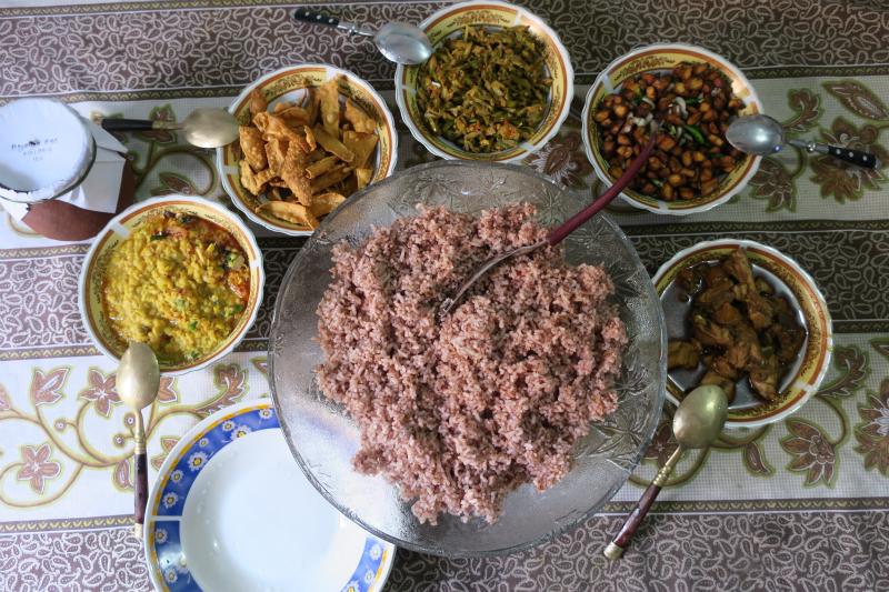 マータラでの昼ご飯